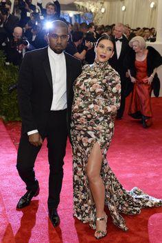 Kanye West en Kim Kardashian in Givenchy Custom Made