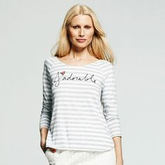"""Peter Som for designation """"j àdorable"""" striped tee - perfect day tee"""