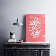 Posters Memorare - Caligrafia e Lettering - Poster Odeie seu Ódio