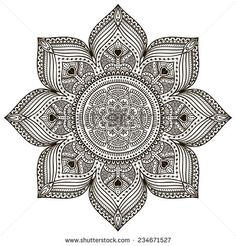 Mandala. Round Ornam