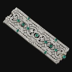 Emerald and diamond bracelet of the Maharani of Karurthala, circa 1925