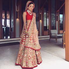 Best Bridal Lehenga Collection 2018 By Top 10 Indian Bridal Designers - Youme And Trends Wedding Lehnga, Indian Bridal Lehenga, Indian Bridal Fashion, Indian Bridal Wear, Asian Bridal, Red Lehenga, Indian Wear, Punjabi Wedding, Wedding Bride
