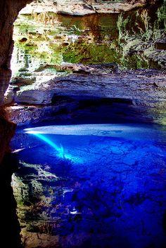 Poço Encantado, Bahia, Brazil    OMG...that BLUE!!! <3