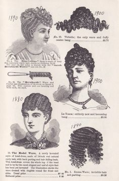 VICTORIAN WOMEN'S WIGS AND HAIR PIECES
