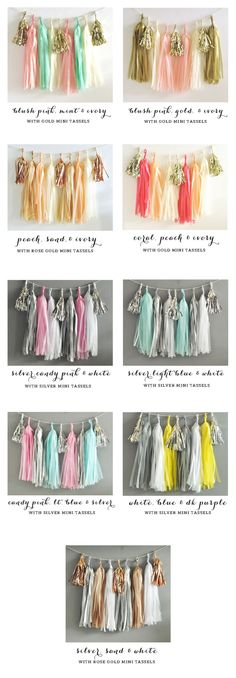 DIY Tassel Garland Kit - You Pick the Colors -   - Pink Poppy Party Shoppe - 4