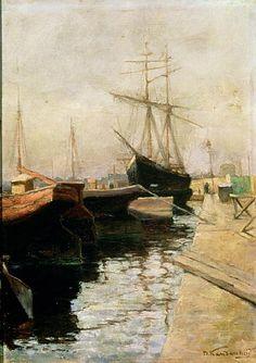 Titre de l'image : Vassily Kandinsky - The Port of Odessa