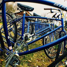 Rough ride got you bent out of shape? Head over to the #ASUCDBikeBarn - They'll help you get things straightened out. At least on your bike.  @asucdofficial  #YourSchoolYourView #UCDavis #biketoschool #bikefriendly @bikeleague