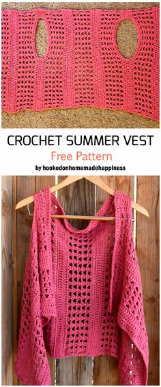 Crochet Summer Vest - Free Pattern , Free patters for crochet beginners and beyond #crochet #crochetpatterns #crochettutorial