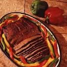 Marinated Flank Steak with Peppers