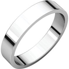 Men's 4mm White Gold Flat Band