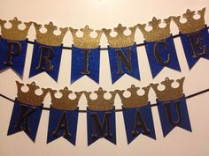 Prince banner by Fancymycupcake on Etsy Prince Birthday Party, Boy Birthday Parties, Baby Birthday, Baby Prince, Royal Prince, Royal Baby Showers, First Birthday Banners, Birthday Decorations, Baby Boy Shower