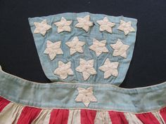 Super RARE Original Civil War Era Patriotic Flag Apron C 1861 1865 | eBay From the research that I have done, patriotic aprons enjoyed a great popularity during CW on both sides, however, very few have survived the last 150 yrs. Those that have are pretty much all in museums, I could find examples of only 3 originals on the internet & they are all in well known major museum collections. In 40yrs of selling & collecting I have never owned or seen another aside from this example.