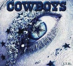 Cowboys eye makeup art