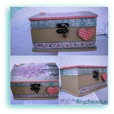 Caja decorada con la tecnica decoupeage. Washi, Painted Boxes, Vintage Wood, Ideas Para, Decorative Boxes, Arts And Crafts, Scrapbook, Blog, Diy