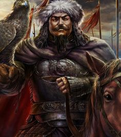 The painting originally depicts Kublai Khan, regardless, I couldnt stand but to cite this guy as Arslan Yabgu, the similarity is staggering Genghis Khan, Warrior 1, Fantasy Warrior, History Of India, Art History, Character Concept, Character Art, Kublai Khan, Attila The Hun