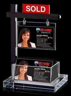 Mini Real Estate Sign & Business Card Holder-Instant AD - Ideal at your reception desk and/or at houses. Simply insert your business card into the sign holder and instantly grab the attention of your customers at any event or open house. Real Estate Gifts, Real Estate Career, Real Estate Business Cards, Real Estate Office, Selling Real Estate, Business Signs, Real Estate Sales, Real Estate Investing, Business Ideas