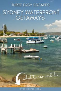 These favourite Sydney weekend getaways with waterfront views are all less than 90 mins from the city centre. If you are looking for a short break from Sydney these spots are ideal Australia Destinations, Amazing Destinations, Travel Destinations, Travel Tips, Travel Articles, Travel Ideas, Sydney Australia, Western Australia, Australia Travel