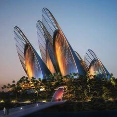 Zayed National Museum, a planned museum, to be located in Abu Dhabi, UAE, designed by Foster + Partners