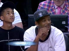 """Sager was photographed creeping up behind an oblivious Will and Jaden Smith, who were sitting courtside at the NBA playoff game between the Chicago Bulls and Miami Heat Wednesday. """"Noting the camera was on him, and encouraged by Marv and Steve Kerr, Sager broke into a full-on photobomb,"""" NBA.com wrote."""