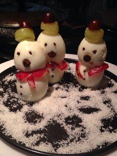 Three drunken snowmen
