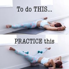 Middle splits can take a long time for some people... so why not let gravity do the work! Breath deeply and slowly while you do this, it…