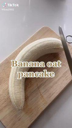 Banana Oat Pancakes, Banana Oats, Healthy Oat Pancakes, Fun Baking Recipes, Vegan Recipes, Cooking Recipes, Pancake Recipes, Cooking Food, Tasty Videos