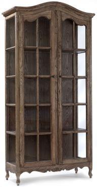 LYDIE 2 Durvju vitrīna 113x45x220 cm, ozolkoks