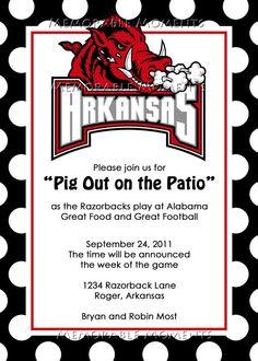 Razorback party invite
