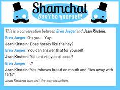 A conversation between Jean Kirstein and Eren Jaeger