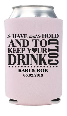Custom Wedding Koozies-Wedding Can Coolers|TotallyWeddingKoozies.com