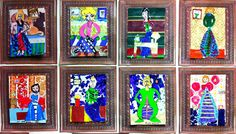 Matisse: Color and Patterns. Start by painting over old wallpaper sheets.