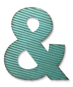 Look at this Blue Corrugated Ampersand Décor on #zulily today!