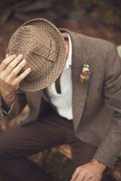 Vintage Tweed Hat - Vintage Monkey Suit | Mad Hatter Tea Party