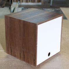 Storage Cube - great for vinyl LPs u0026 book storage. In white / walnut simplewoodgoods & Storage Cube - great for vinyl LPs u0026 book storage. In transparent ...