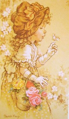 Sarah Kay ( one of her best) Sarah Key, Vintage Drawing, Holly Hobbie, Angel Art, Australian Artists, Cute Characters, Cute Illustration, Vintage Pictures, Fabric Painting