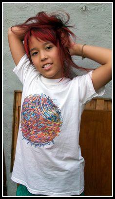 red hair ganga with santoshirt by santoshirts.deviantart.com on @DeviantArt