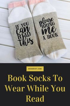 Wear these fabulous book socks while you curl up with a good read.   socks | book socks | book gifts | bookish gifts