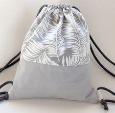 Rucksäcke - Turnbeutel Rucksack Stoffbeutel backpack blätter - ein Designerstück von lucieandcate bei DaWanda