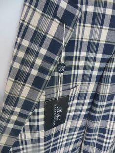 RALPH LAUREN Polo Mens Plaid Jacket Blazer Coat NEW Blue White Plaid Check 42L L - NOW $109 - WAS $295