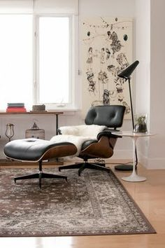love the oriental rug with this chair