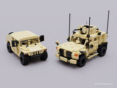 This convoy is armed and armored and ready for action - LEGO - Diet Legos, Oshkosh M Atv, Lego Army, Lego Ww2, Lego Zombies, Lego Truck, Micro Lego, Lego Builder, Lego Mecha