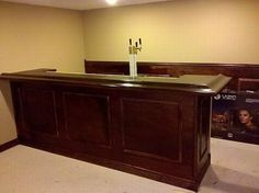 How to Build an Awesome Bar in Your Basement (35 pics) <--Bar does not have to be in the basement, it can be its own centerpiece