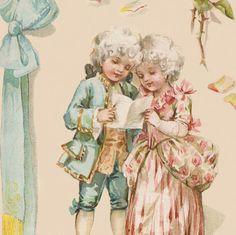 vintage children | children digital image of a victorian illustration french children ...