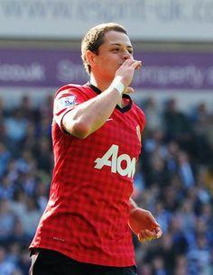 Chicharito scores Manchester United's final goal