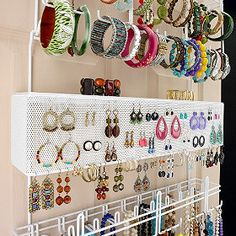 This is an over the door style organizer. It holds a lot of pieces. It's OK, not my thing but might be perfect for someone else.