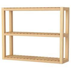 MOLGER Estante de parede - bétula - IKEA