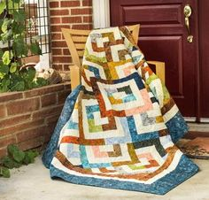 """If diamonds are a girl's best friend, the Diamond Double Quilt must be your soulmate! Your kit includes a pattern and gorgeous RJR Malam Batiks fabric, to sew this stunning, 65"""" x 77"""" design. Featu..."""