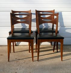 Beau Mid Century Modern Drexel Profile Dining Chairs Dining Room Chairs, Modern  Dining Chairs, Dining