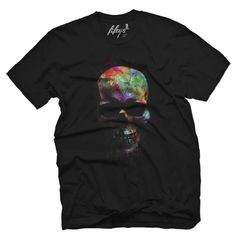 Color Run Skull Men's T Shirt