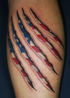 awesome 34 Beautiful American Flag Tattoos